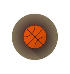 flat color basketball ball vector image