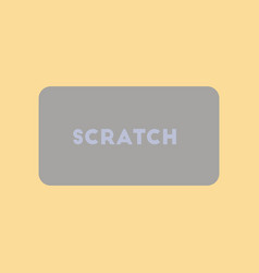 flat icon on stylish background scratch card vector image