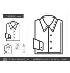 Folded shirt line icon vector