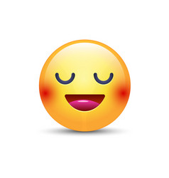 fun cartoon emoji smiley icon face happy smiling vector image