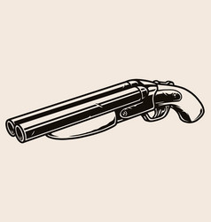 Gangster short barreled shotgun concept vector