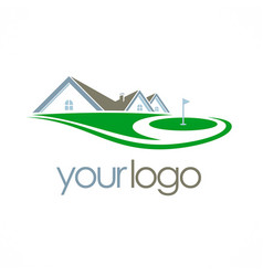 Golf yard house club logo vector