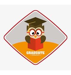 graduate design vector image