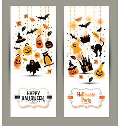 Halloween banners set on white background vector