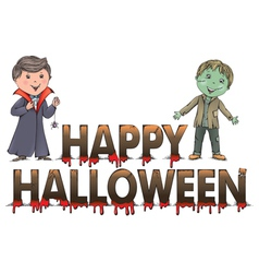 halloween contains transparent objects eps10 vector image
