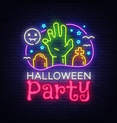 halloween party design template halloween vector image