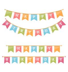 Happy birthday bunting vector