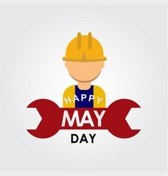 Happy may day logo template design vector