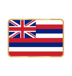 hawaii flag icon vector image
