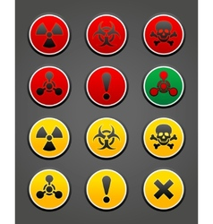 hazard safety sign vector image