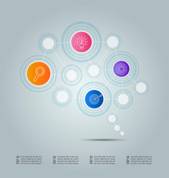 infographic design business connection concept vector image