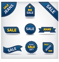 jeans sale labels vector image