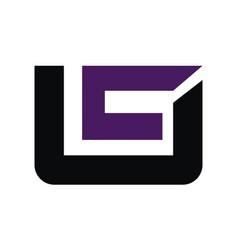 letter uc modern vector image