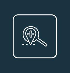 Local search icon line symbol premium quality vector