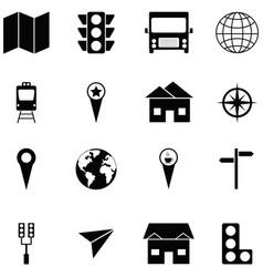 location icon set vector image