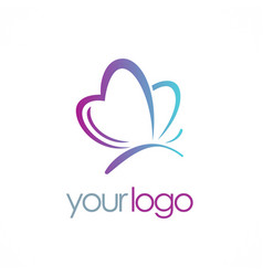 Love butterfly beauty logo vector