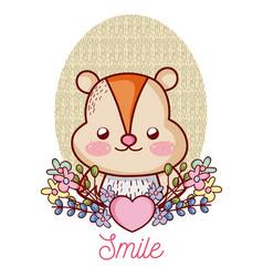 Lovely hamster cartoon vector