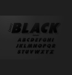 luxury black alphabet letterscreative vector image