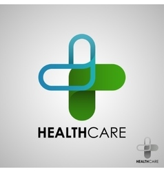 Medical pharmacy logo design template vector image