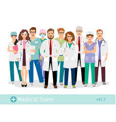 Medical staff professionals group in uniform vector