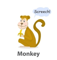 Monkey illistration vector image