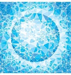 Mosaic globe vector