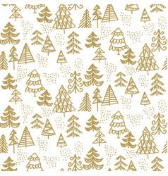 one color christmas tree hand drawn vector image