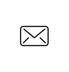 outline email icon isolated on grey background vector image