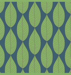 pattern of green leaves background vector image