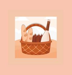 picnic food design vector image