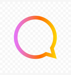 quote bubble message chat icon vector image