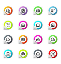 real estate icons set vector image