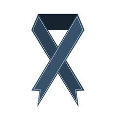 Ribbon banner commemorates gray design icon vector