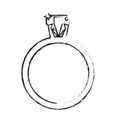 ring jewelry luxury wedding sketch vector image