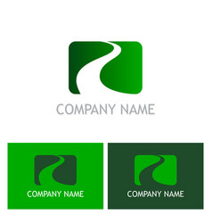 Road success company logo vector