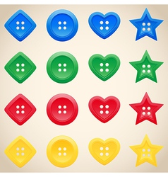 set buttons in different colors vector image