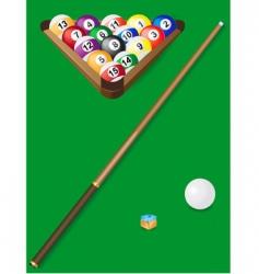 Set for billiards vector