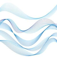set of different graphic of the waves on a white vector image