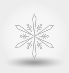 snowflake icon christmas and new year vector image