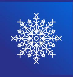 snowflake single icon on blue vector image