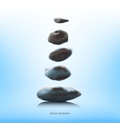 SPA stones on a blue background vector