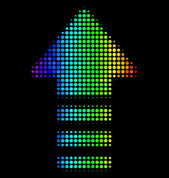 Spectrum dotted arrow pointer icon vector