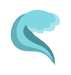Splashing wave icon cartoon style vector
