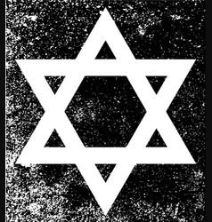 star of david half tone vector image