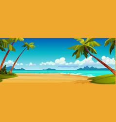 summer beach seashore tropical landscape scenery vector image