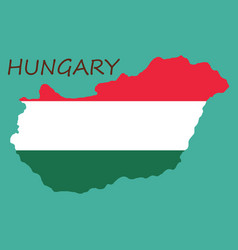 Symbol poster banner hungary map of hungary with vector
