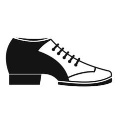 Tango shoe icon simple style vector image