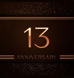 Thirteen years anniversary celebration logotype vector