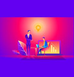 training of office staff vector image