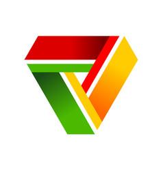triangle collaboration cycle symbol logo design vector image